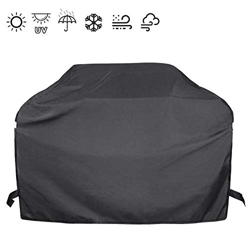 Hisencn 53 Inch Heavy Duty Gas Grill Cover for Dyna-Glo DG400C Premium 4 Burner Grills, Waterproof Outdoor BBQ Cover for Charbroil, Nexgrill Most Grill, All Weather Protection, Fade and UV Resistant Covers Grill