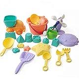 Juguete de arena para niños, 22 piezas, incluye camión de arena, cerrajero, regadera, herramienta de pala, Summer Beach Fun Toys para niños, niños y niñas, juego de arena