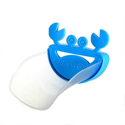 Fliyeong Extensor de grifo creativo de dibujos animados cangrejo forma fregadero extensión seguro grifo para niño uso 1 unids azul creativo y útil