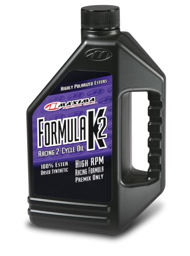 Maxima Racing Oils 22964-2PK Formula K2 Synthetic Racing 2-Stroke Premix Oil 64 oz Bottle, 2-Pack