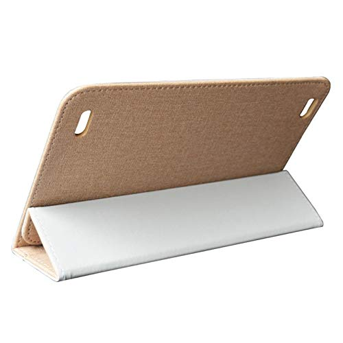 Kamenda para Teclast P80 P80X P80H Caja Funda para Tableta de 8 Pulgadas Funda de Cuero con Protección Anti-Caída Soporte para Tableta (Oro)