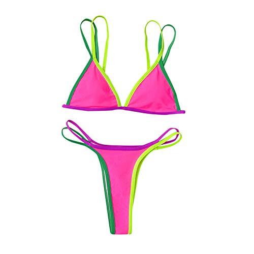 Costumi da Bagno Donna Set Vita Alta Bikini Push Up Bikini Donna Mare Sexy con Laccetti Costume da Bagno da Spiaggia Micro Bikini Donna Sexy Hot