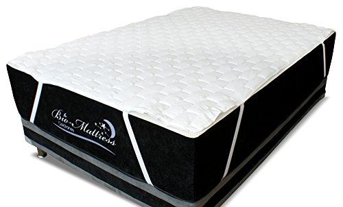 Bio Mattress Protector de colchón Hotel de Luxe- Microfibra Blanco, con Resortes, Máximiza el Confort y…