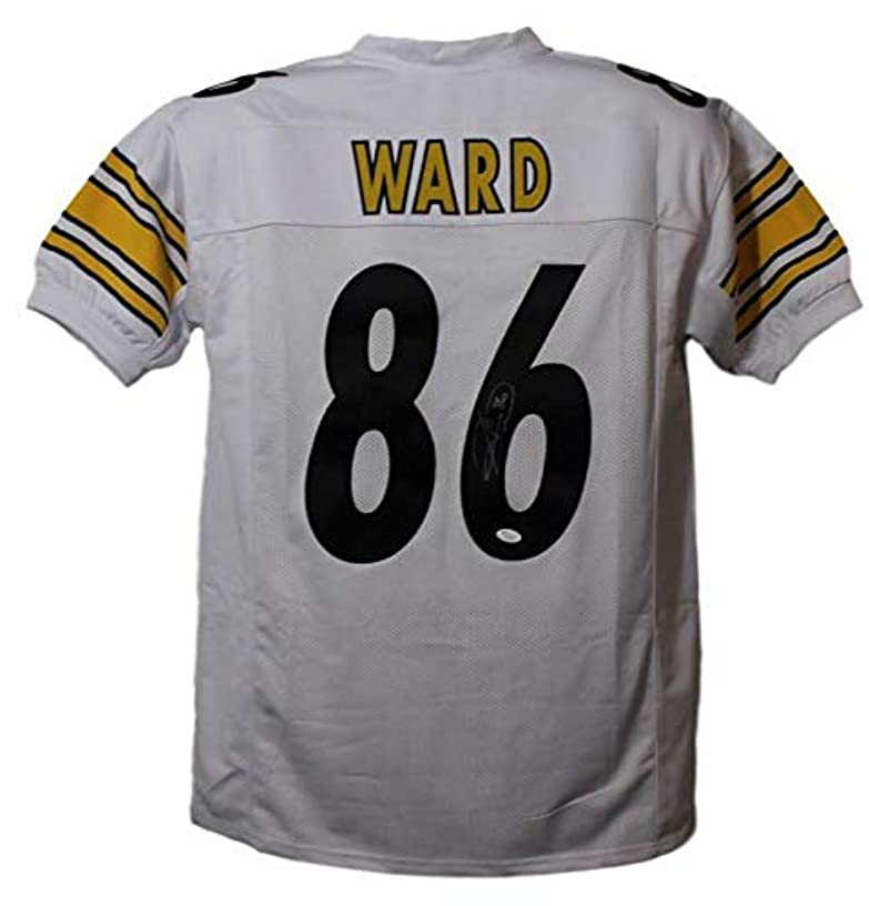 Hines Ward Autographed/Signed Pittsburgh Steelers White Size XL Jersey JSA