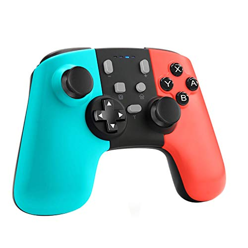 ETPARK Mando para Nintendo Switch, Bluetooth Inalámbricos Pro Nintendo Switch Gamepad Controlador Joystick con Batería Recargable, Vibración, Turbo, Giroscopio Función para Switch/Lite