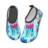 FA_Ll Poster Gu_Ys - Calzado acuático para niños y niñas, antideslizantes, de secado rápido, para playa, natación, caminata, Black, 29 EU