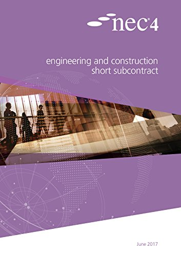 NEC4: Engineering and Construction Short Subcontract download ebooks PDF Books