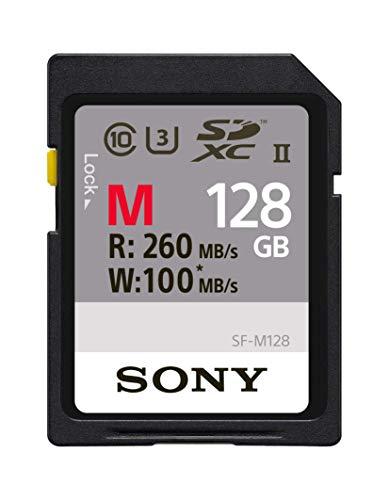 Sony M Series SDXC UHS-II Card 128GB, V60, CL10, U3, Max R277MB/S, W150MB/S (SF-M128/T2)