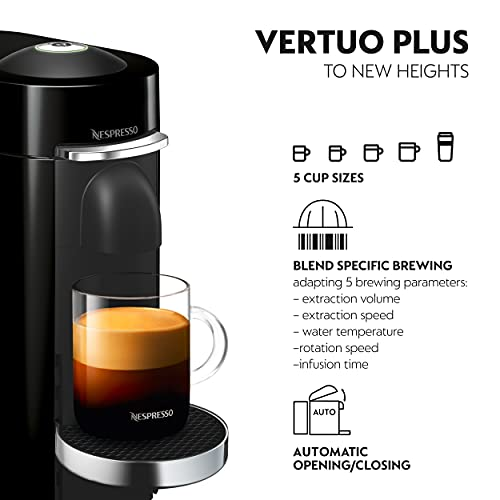 Nespresso Vertuo Plus 11387 Coffee Machine with Milk Frother by Magimix, Black