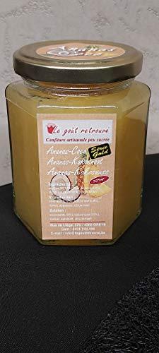 Confiture artisanale peu sucrée Ananas - Coco 325gr