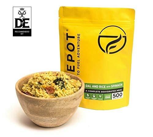 FIREPOT by Outdoorfood - Dal con arroz y Espinacas - Comida para expediciones deshidratada y Saludable (Extra Grande)