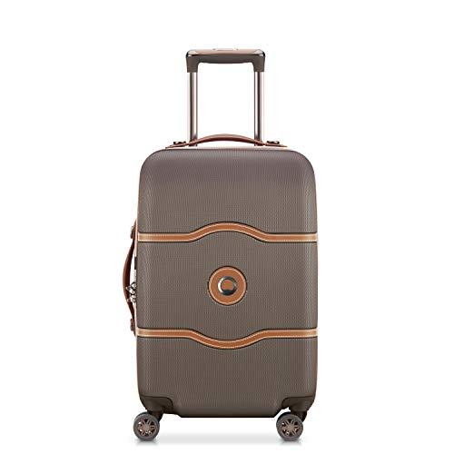 DELSEY(デルセー) スーツケース 機内持ち込み sサイズ おしゃれ キャリーケース かわいい mサイズ/lサイズ 軽量 大容量 シャトレ CHATELET AIR 10年間保証 ストッパー機能なし (42L&チョコレット)