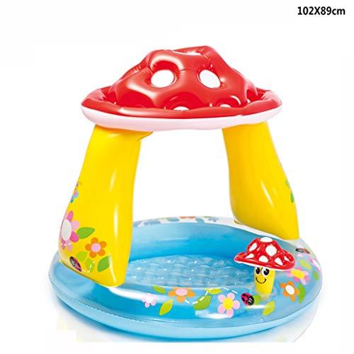 FAPROL Kleinkinder Planschbecken Aufblasbare Pools Spielzeug Für Kindergärten Helfen Sie Kindern, Das Schwimmpaket Zu Lernen Mushroom