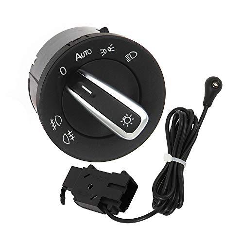 Interruptor de luz para coche con módulo sensor luminoso y mando a distancia para VW Golf Mk5/6 Jetta