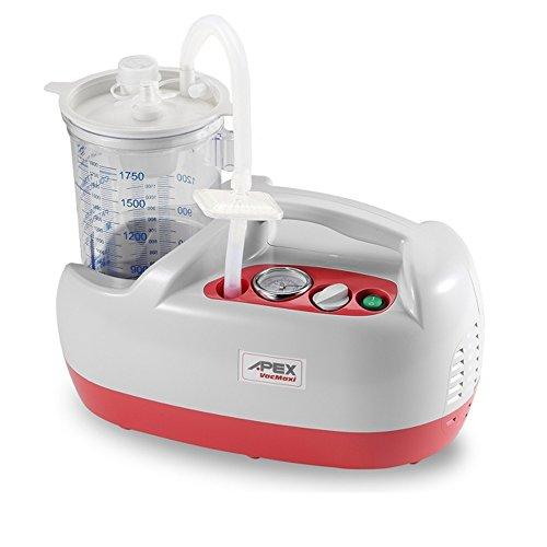 Aspirador secreciones APEX Vac Maxi, hasta 46 litros por minuto. 1800 ml depósito,regulador de presión.