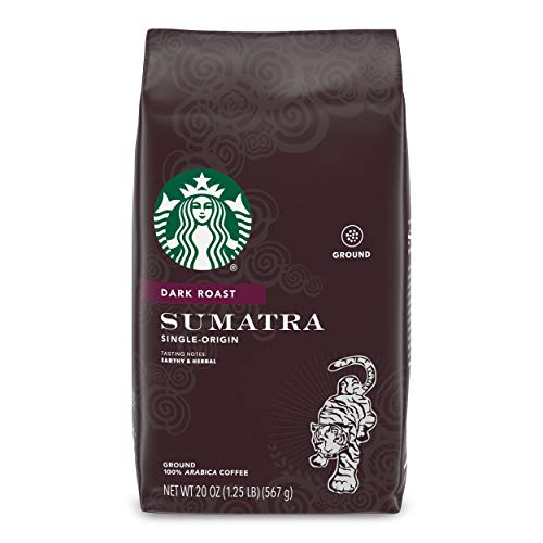 Starbucks Dark Roast Ground Coffee - Sumatra - 100% Arabica - 1 Bag (20 Oz.)