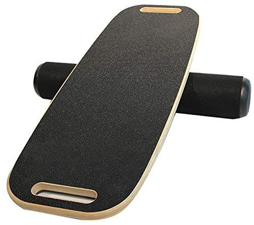 MQLOON Balance Board aus Holz, effektives Balance Training und Koordination Übungen, Wakeboard Skateboard Surfboard Trickboard Balance Board, geeignet für Zuhause, Büro und Fitnessstudio