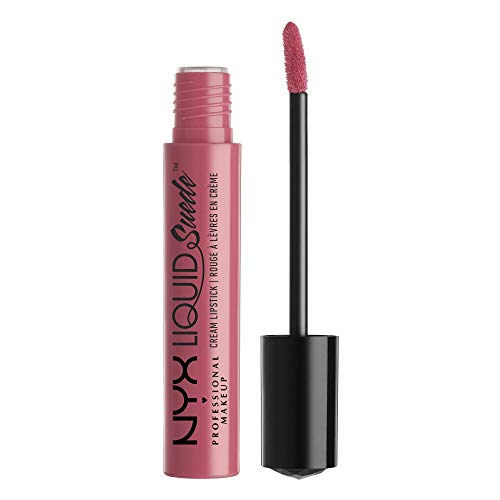 NYX Professional Makeup Lippenstift - Liquid Suede Cream Lipstick, samtig-weicher Creme-Lippenstift, aufregend mattes Finish, 4 ml, Tea & Cookies 09