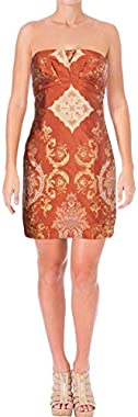 Free People Womens Patterned A-Line Dress