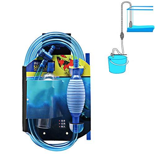 Qhoow Fisch-Behälter-Reinigungsmittel mit Fluss Controler Tap, Aquarium Siphon Staubsauger Waschmaschine für Aquarium Reinigung Kies & Sand,3m