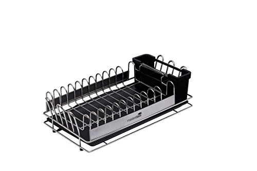KitchenCraft MCDISHCOMP, MasterClass, kleines Abtropfgestell, Edelstahl, 41 x 22 x 13 cm