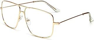 نظارات بإطار معدني بدون وصفة طبية من دولجير كلاسيك جي إل شفافة للرجال والنساء