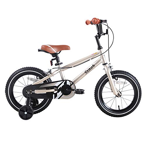 STITCH Kids Bike for 3 4 5 Years Girls & Boys, Child Bicycle with stabilisers,...