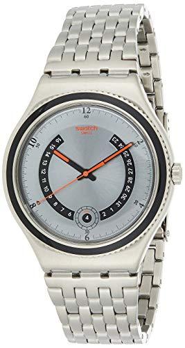 Swatch Irony Big Classic Beaulieu - Reloj de Cuarzo para Hombre, con Correa de plástico, Color Plateado