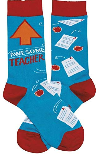 Primitives by Kathy LOL Made You Smile Silly Socks, Awesome Teacher
