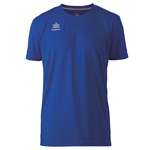 Luanvi Pol Camiseta de Deportes Manga Corta, Hombre, Azul, 4XL