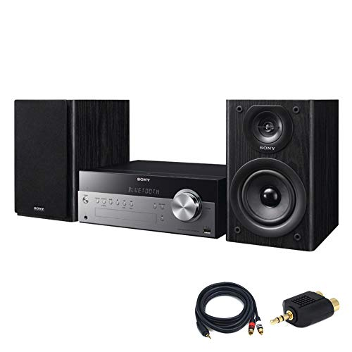 speakers with nfcs Sony CMTSBT100 Micro Music System with Bluetooth and NFC with 6ft Premium 3.5mm Stereo Male to 2RCA Male Cable and 3.5mm Splitter