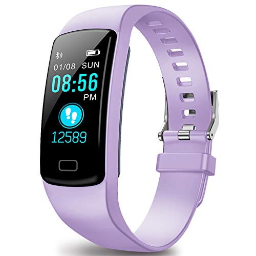 Fitness Tracker HR, Activity Tracker Watch with Heart Rate Monitor, Waterproof Fit Watch with Step Counter, Calorie Counter, Pedometer Watch for Women