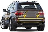 Tapa para maletero trasero de acero inoxidable cromado para BMW X5 E70 SUV 2007