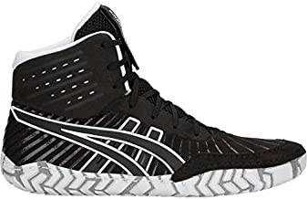 ASICS Men's Aggressor 4 Wrestling Shoes, 11.5M, Black/Black