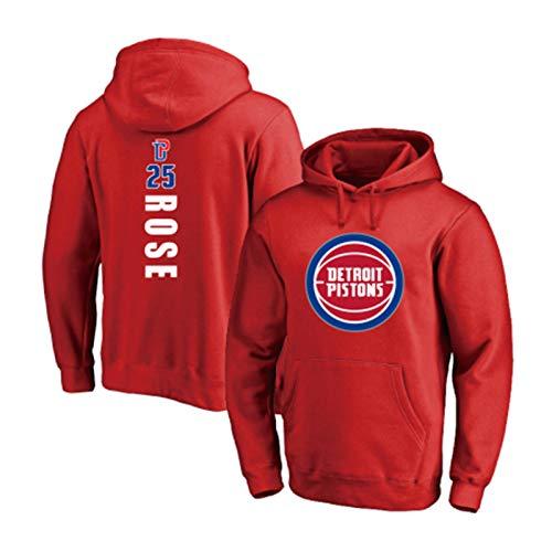 DWQ Pistones # 25 Rose Hombres y Jersey de Baloncesto Femenino, Ciudad de los Vientos Rosa de Baloncesto Uniforme Camiseta Baloncesto los Deportes Ocasionales de la Cami red1-XXL