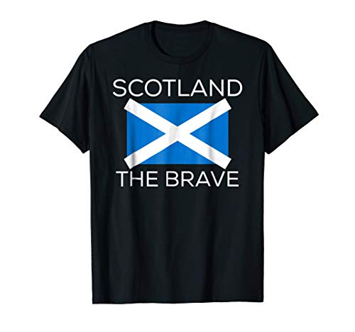 Scotland The Brave Scottish Flag Celtic Ancestry T-Shirt
