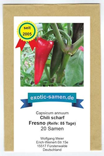Fresno - rotes, scharfes Chili - ähnlich wie Jalapeno - 20 Samen