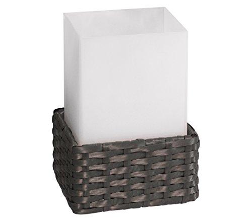 Dehner Solarleuchte Rattan Cube, ca. 21 x 11.6 x 11.6 cm, dunkelbraun