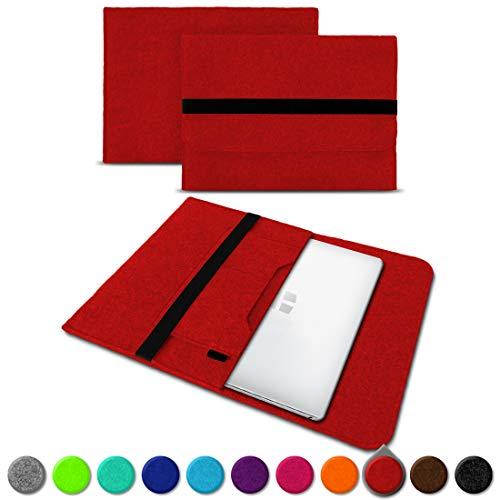 UC-Express Sleeve Hülle Odys Trendbook 14 Pro Tasche Filz Notebook Cover 14' Laptop Schutz Case, Farbe:Rot (Red)