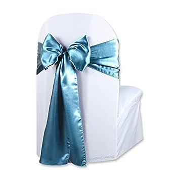 teal blue chair sashes