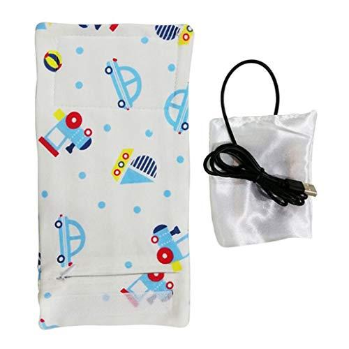LEXUPE USB-Milch-Wasser-Wärmer-Spielraum-Spaziergänger Isolierbeutel-Baby-Saugflaschen-Heizung(M,Free Size)