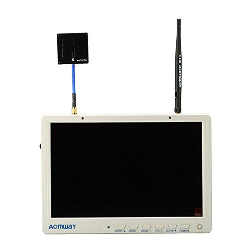 HELEISH HD588 V2 10 Zoll 5.8G 64CH Diversity FPV HD Monitor 1920 x 1200 mit eingebautem DVR Akku for RC DIY Montageteile