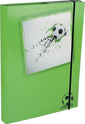 Heftbox / DIN A5 / aus Pappe / mit Fußballmotiv