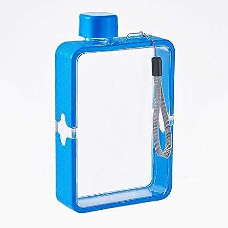 Gym Fitness /à lair libre Camping MORANGO Bouteille deau plate A5 R/éutilisable Bouteille Portable Transparent en Plastique pour Sports Bleu