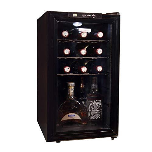 YFGQBCP Autoportante Bodega Frigorífico, la Copa de Vino de la suspensión, Control táctil/Pantalla Digital Temperatura, Vino/refrigerador de la Bebida Frigorífico