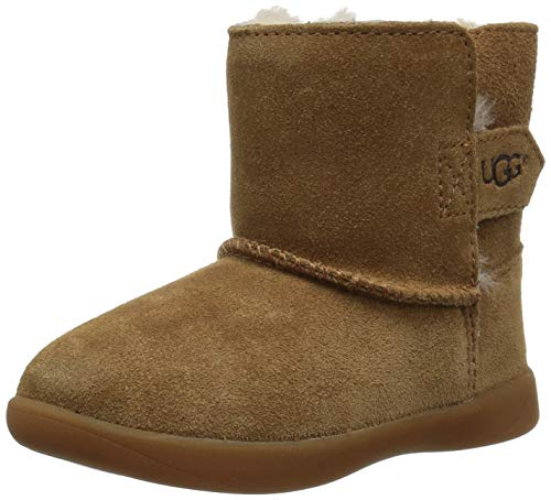 UGG unisex baby Keelan Ankle Boot, Chestnut, 2-3 Infant US