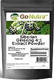 Siberian Ginseng Powder 4:1 Extract 4x times Stronger Non-Gmo 4oz