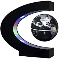 ZT-TTHG 世界3を探検卓上装飾クリスマス誕生日ギフト、モデル03のために世界地図付きLEDライト地球地球儀を回転させる「磁気浮上グローブ浮上フォーム