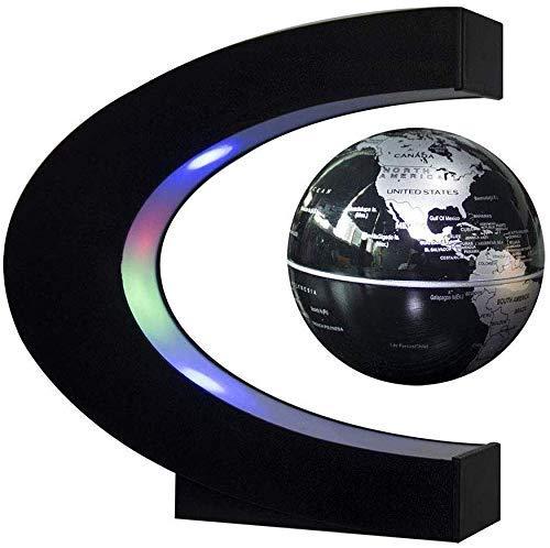 JJDSN Floating Globe 8 inch - 360 graden draaibare magneetbal hanglamp wereldkaart met LED-verlichting decoratie kinderen of: B