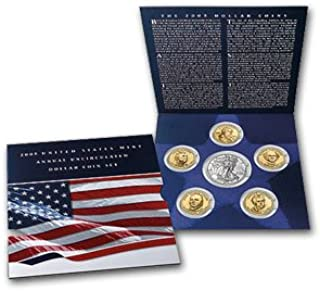 2008-W US Mint Annual Uncirculated Dollar 6 Coin Set
